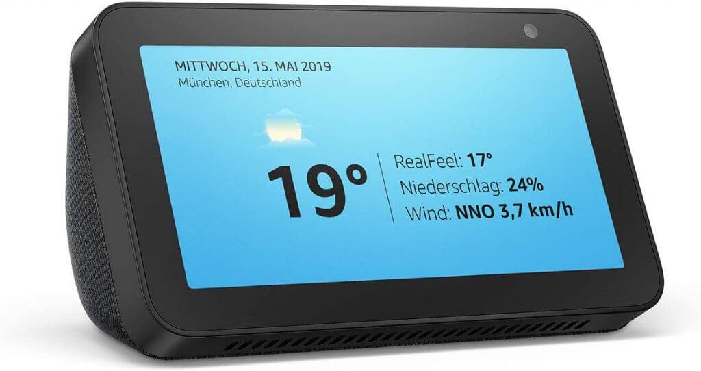 Echo Show 5 kompaktes Smart Display mit Alexa schwarz